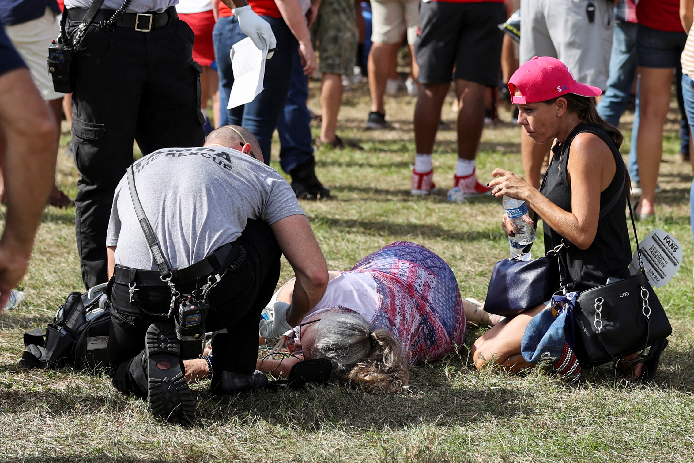 Passed out at Tampa Trump Rally
