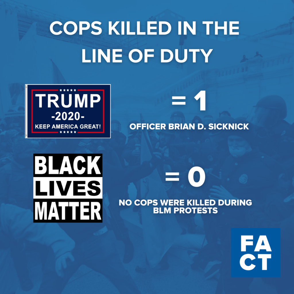 Trump's Riot Killed More Police Officers than Black Lives Matter Protests